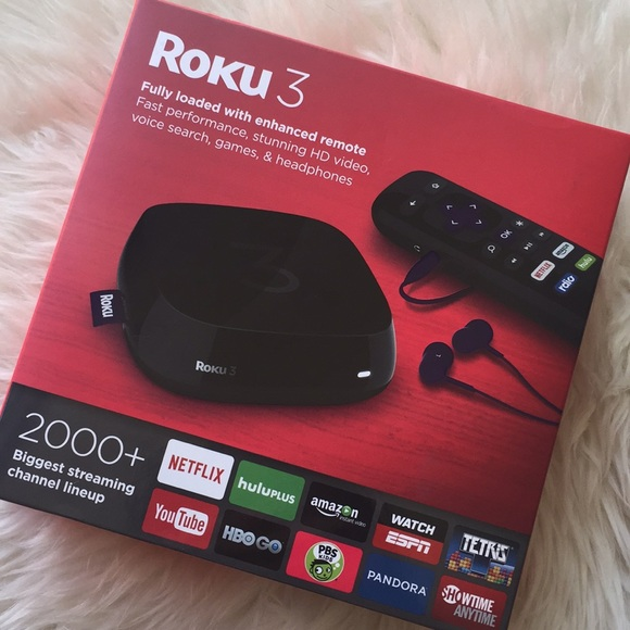 Roku 3 Streaming Device with Enhanced Remote! NWT